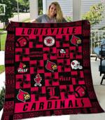 Louisville Cardinals Blanket TH1607 Quilt