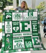 Eastern Michigan Eagles 1 Blanket TH1607 Quilt