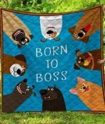 Born To Be Boss Blanket TH1607 Quilt