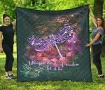 Dragonflies Let It Be TH1207 Quilt