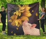 Pig Sunflower TH1207 Quilt