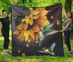Hummingbird Sunflower Premium TH1207 Quilt