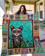Skull Cat Ver1 TH1207 Quilt