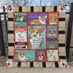 Corgi Blanket TH1307 Quilt