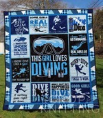 Diving Girl Blanket TH1307 Quilt