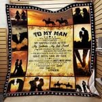 To My Man Horse Riding Blanket KC1207 Quilt
