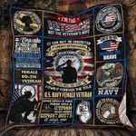 U.S. Navy Women Veterans Blanket KC1207 Quilt