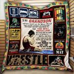 To My Grandson Wrestling Blanket KC1207 Quilt