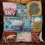 I M A Pilot And My Soul Is In The Sky Blanket KC1207 Quilt