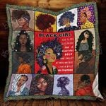 Black Girl The Queen Of Beauty Blanket KC1207 Quilt