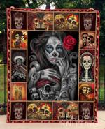 Skull 4 Blanket TH1307 Quilt