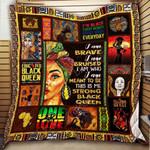 Strong Black Queen Blanket KC1207 Quilt