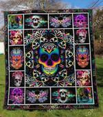 Skull 2 Blanket TH1307 Quilt
