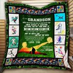 To My Grandson Soccer Blanket KC1207 Quilt