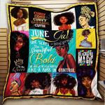 June Girl Black Queen Blanket KC1207 Quilt