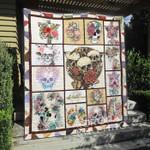 Skull Flower Blanket TH1307 Quilt
