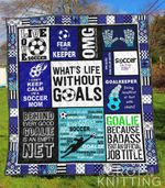 Soccer Goals Blanket TH1307 Quilt