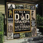 Veteran Dad Grandpa Blanket TH1307 Quilt