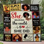 Black Girl Blanket TH1507 Quilt