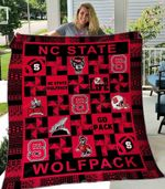 NC State Wolfpack Ver4 Blanket TH1507 Quilt
