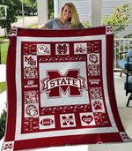 Mississippi State Bulldogs Ver1 Blanket TH1507 Quilt
