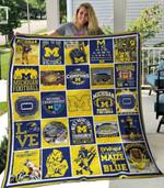 Michigan Wolverines Ver1 Blanket TH1507 Quilt