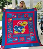 Kansas Jayhawks Ver1 Blanket TH1507 Quilt