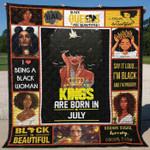 July Black Women Blanket TH1507 Quilt