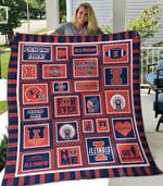 Illinois Fighting Illini Ver3 Blanket TH1507 Quilt