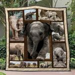 Elephant Ver19 Blanket TH1507 Quilt