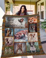 DOG American Staffordshire Terrier Blanket TH10072019 Quilt