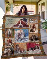 TTL DOG Basset Hound Blanket TH10072019 Quilt