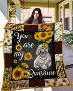 Sunflower Bichon Frise Blanket TH10072019 Quilt