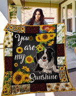 Sunflower Border Collie Blanket TH10072019 Quilt