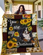 Sunflower Bernese Mountain Blanket TH10072019 Quilt