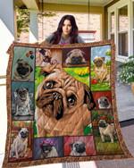 DOG Pug Blanket TH10072019 Quilt