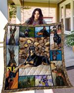 DOG Doberman Blanket TH10072019 Quilt