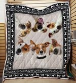 Jack Russell Terrier 03 Blanket TH10072019 Quilt