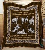 Jack Russell Terrier 09 Blanket TH10072019 Quilt
