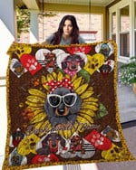 Dachshund 14 Blanket TH10072019 Quilt