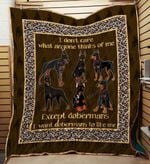 Doberman 09 Blanket TH10072019 Quilt