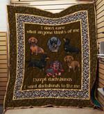 Dachshund 09 Blanket TH10072019 Quilt