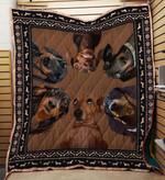 Dachshund 03 Blanket TH10072019 Quilt