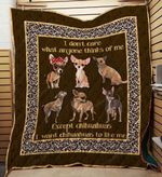 Chihuahua 09 Blanket TH10072019 Quilt