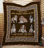 Cavalier King Charles Spaniel 09 Blanket TH10072019 Quilt