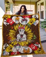Bull Terrier 14 Blanket TH10072019 Quilt