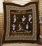 Boston Terrier 09 Blanket TH10072019 Quilt