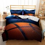 3D Basketball Realistic Printed Duvet Cover Bedding Set