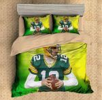 Aaron Rodgers Green Bay Packers Duvet Cover Bedding Set