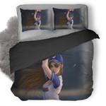 Baseball Girl Duvet Cover Bedding Set